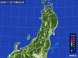 2016年06月11日の東北地方の雨雲レーダー