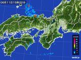 2016年06月11日の近畿地方の雨雲レーダー