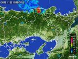 2016年06月11日の兵庫県の雨雲レーダー