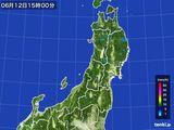 2016年06月12日の東北地方の雨雲レーダー