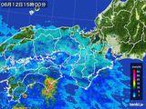 2016年06月12日の近畿地方の雨雲レーダー