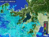 2016年06月12日の滋賀県の雨雲レーダー