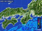 2016年06月13日の近畿地方の雨雲レーダー