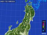 2016年06月17日の東北地方の雨雲レーダー