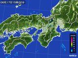 2016年06月17日の近畿地方の雨雲レーダー