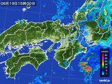 2016年06月19日の近畿地方の雨雲レーダー
