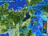 2016年06月19日の滋賀県の雨雲レーダー