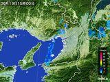2016年06月19日の大阪府の雨雲レーダー