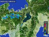 2016年06月20日の滋賀県の雨雲レーダー