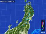 2016年06月21日の東北地方の雨雲レーダー
