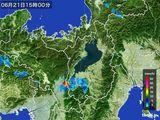 2016年06月21日の滋賀県の雨雲レーダー