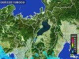 2016年06月22日の滋賀県の雨雲レーダー