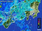 雨雲レーダー(2016年06月24日)