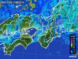 2016年06月24日の近畿地方の雨雲レーダー