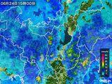 2016年06月24日の滋賀県の雨雲レーダー