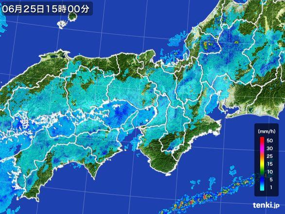近畿地方の雨雲レーダー(2016年06月25日)