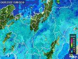 2016年06月25日の滋賀県の雨雲レーダー