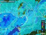 2016年06月25日の大阪府の雨雲レーダー