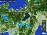 2016年06月26日の滋賀県の雨雲レーダー