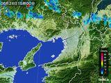 2016年06月26日の大阪府の雨雲レーダー