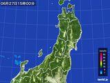 2016年06月27日の東北地方の雨雲レーダー