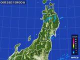 2016年06月28日の東北地方の雨雲レーダー