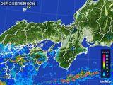 雨雲レーダー(2016年06月28日)