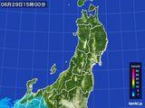 2016年06月29日の東北地方の雨雲レーダー