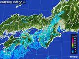 2016年06月30日の近畿地方の雨雲レーダー