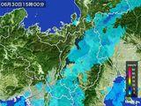 2016年06月30日の滋賀県の雨雲レーダー