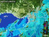 2016年06月30日の大阪府の雨雲レーダー