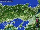 2016年07月01日の兵庫県の雨雲レーダー
