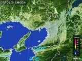 2016年07月02日の大阪府の雨雲レーダー