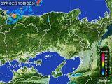 2016年07月02日の兵庫県の雨雲レーダー