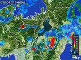 2016年07月04日の滋賀県の雨雲レーダー