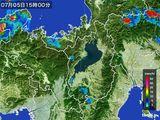 2016年07月05日の滋賀県の雨雲レーダー