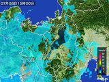2016年07月08日の滋賀県の雨雲レーダー
