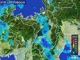 2016年07月12日の滋賀県の雨雲レーダー