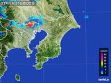 2016年07月14日の千葉県の雨雲レーダー