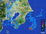 2016年07月15日の千葉県の雨雲レーダー