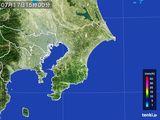 2016年07月17日の千葉県の雨雲レーダー