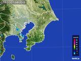 2016年07月20日の千葉県の雨雲レーダー