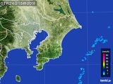 2016年07月24日の千葉県の雨雲レーダー