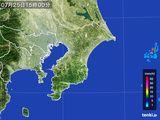 2016年07月25日の千葉県の雨雲レーダー