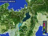 2016年07月25日の滋賀県の雨雲レーダー