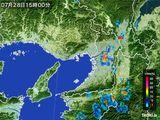 雨雲レーダー(2016年07月28日)