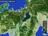 2016年07月29日の滋賀県の雨雲レーダー