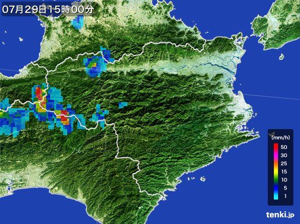 徳島県の雨雲レーダー(2016年07月29日)