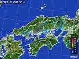雨雲レーダー(2016年07月31日)