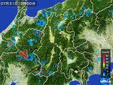 2016年07月31日の長野県の雨雲レーダー